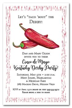 Two red hot peppers are perfect for your Kentucky Derby party...