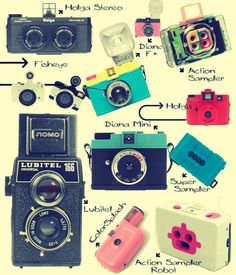I want every single one of these. If only cameras and film and developing film weren't way outside of my budget. I might as well get an SLR and figure out photoshop.