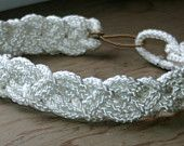 Head piece or head band white rope 1 inch thick $18.95