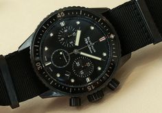 Blancpain Fifty Fathoms Bathyscaphe Flyback Chronograph Watch Hands On   hands on