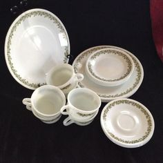 Corelle Corning Spring Blossom  Crazy Daisy 24 PC set for 6, Dinner, Salad, C&S #Corelle
