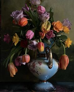 Photo by Manon Paarden Kooper Bunch Of Flowers, Glass Vase, Painting, Home Decor, Art, Art Background, Decoration Home, Room Decor, Bouquet Of Flowers