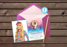 Editable 9th Birthday Invite | Pink Blue Invitation, Photo Portrait Invitation, Blue Pink Invite, Ninth Invitation, Editable Blue Invite #EditableInvitation #NinthInvitation #PinkBlueInvitation #TemplettBlueInvite #EditableBlueInvite #BluePinkInvite #9thBirthdayInvite #GoldFoilBalloon #TemplettPinkInvite #NinthPinkInvite