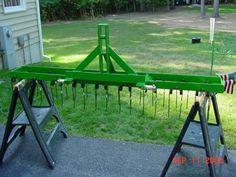 Yard Tractors, Small Tractors, John Deere Tractors, Compact Tractor Attachments, Garden Tractor Attachments, Small Garden Tractor, Agricultural Implements, Farm Hacks, Welded Metal Projects