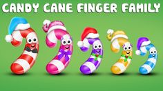 The Finger Family Candy Cane Family Nursery Rhyme | Candy Cane Finger Fa...