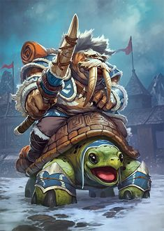 Odobenman Scout Originally: Card Name: Tuskarr Jouster Artist: Skan Srisuwan World Of Warcraft, Warcraft Art, Fantasy Character Design, Character Concept, Character Art, Fantasy Races, Fantasy Art, Beast Creature, Wow Art