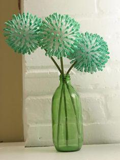 Flor de cotonetes para decoração da casa passo a passo | Como fazer em casa Artesanato