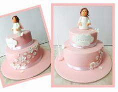 Batizado  Batism  Bolo Rosa Cake Pink Anjo Anjel