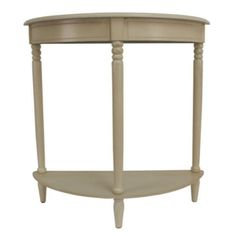 Classic Half Round Console Table Living Room Furniture Antique White Finish New