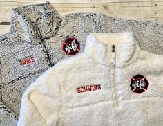pullover jacket XL firefighter wife sweatshirt maltese embroidered red white gray