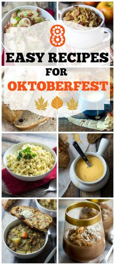 8 Easy Recipes for Oktoberfest - strap on your lederhosen and help yourself to another frosty beer! Oktoberfest is here!