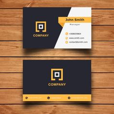 Modern Corporate  Business Card Design Free Vector