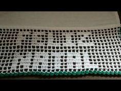Bico de crochê em pano de prato - natalino #2 - YouTube