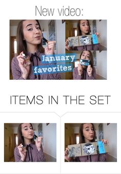 """""""// (1163.) New video: January favorites."""" by lilymcenvy ❤ liked on Polyvore featuring art"""