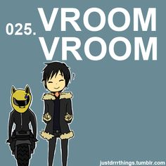 Izaya's sound effects... this was like my fav scene on durarara