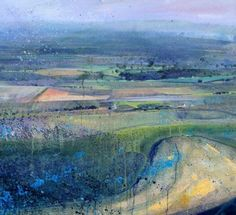 Harvest II by Lorna Holdcroft Watercolor Landscape, Abstract Landscape, Landscape Paintings, Beautiful Paintings, Art World, Online Art Gallery, Contemporary Art, Fine Art, Mix Media