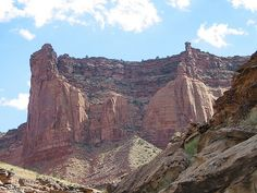 Section of Upheaval Dome, off Taylor Canyon Trail, looking South. Canyonlands, Utah