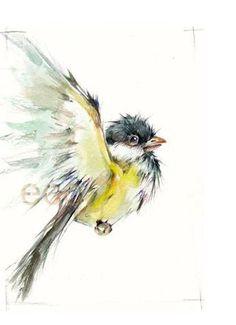 I love chickadee's!! Etsy art