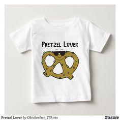 Pretzel Lover Baby T-Shirt Oktoberfest Outfit, Oktoberfest Clothing, Funny Baby Shirts, Descriptive Words, Basic Colors, Dog Design, Pretzel, Party Hats, Funny Cute