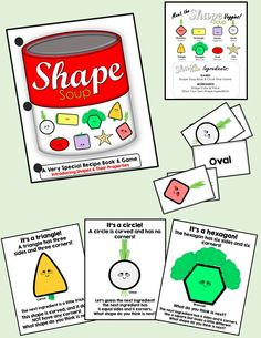 Circle Time Activity. Students will enjoy guessing and adding the different shapes into the soup to make a special Shape Soup recipe. Simple worksheets included for extended learning.