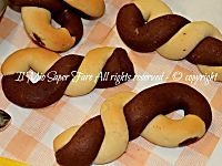 Biscotti bicolori da colazione - Biscotti intrecciati da inzuppo