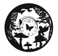 Фэнтези мотивы для часов из виниловой пластинки