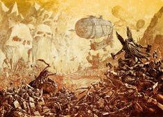 #dwarf #airship #warmachine #warhammer #orcs eneon24's image