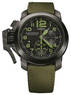 Graham Watch Chronofighter Oversize Ceramic Celcius Bezel Green #bezel-fixed…