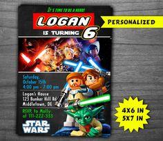 LEGO invitación, invitación de cumpleaños, invitación de niño, lego para…