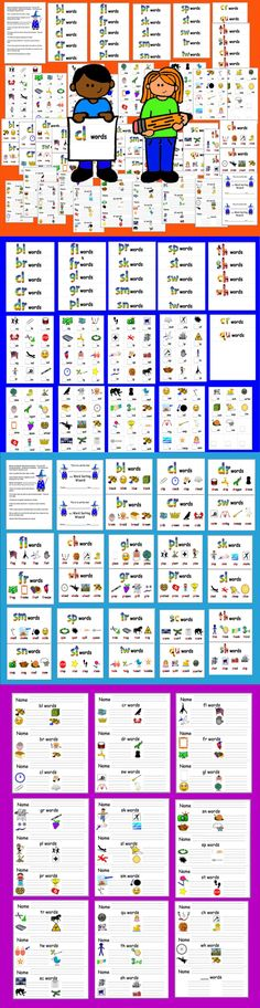 Blends & Digraphs Word Sort by The Teacher's Post First Grade Worksheets, First Grade Activities, Kids Learning Activities, Learning Centers, Teaching Ideas, Sight Words List, First Grade Sight Words, Learning English, Learning Spanish