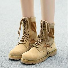 Women Mens Ankle Canvas Cambat Boots Sand Lace Up Protect Shoes Hiking Sneakers