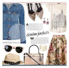 """wardrobe staples: denim jackets."" by sinesnsingularities ❤ liked on Polyvore featuring Zolà, Banana Republic, Madewell, Dorothy Perkins, Effy Jewelry, rag & bone, BauXo, contestentry, denimjackets and WardrobeStaples"