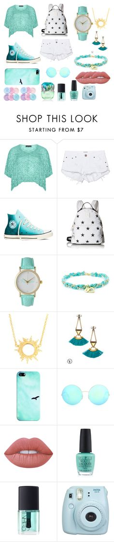 """tosca"" by qannandya on Polyvore featuring Barbara Speer, One Teaspoon, Converse, Tommy Hilfiger, Olivia Pratt, Annabelle Lucilla Jewellery, Stella & Dot, Casetify, Victoria Beckham and Lime Crime"