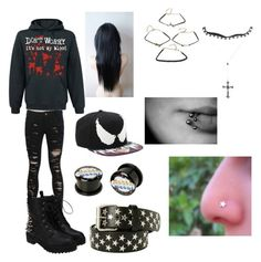 """All Black tag"" by sinister-nightmares ❤ liked on Polyvore"