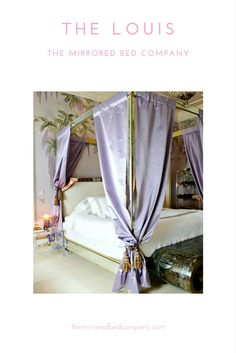 The LOUIS Mirrored Canopy Four Poster from The Mirrored Bed Company is the world's most popular luxury mirrored canopy bed. Each is handmade to order in solid wood and the highest grade of mirror - we do not use MDF (the mark of a cheap and flimsy mirrored bed). We provide multiple fabric options in silk, velvet and leather, mirror finishes and many other style options to choose from to create your most perfect sacred space just as you dreamed of!