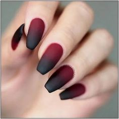 125 trending fall nail art design -page 14 > Homemytri.Com 125 trending fall nail art design -page 14 > Homemytri. Mauve Nails, Gelish Nails, Neutral Nails, Gradient Nails, Burgendy Nails, Oxblood Nails, Magenta Nails, Stiletto Nails, Red Tip Nails