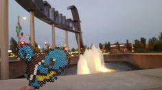 Squirtle perler bead art