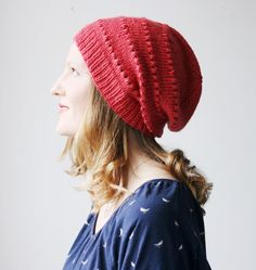 Love the shape and color of this cozy merino hat.