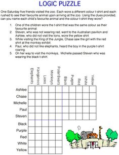Creative and Curious Kids!: Logic Puzzles