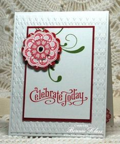 Actually the Lacy and Lovely stamp set was used for this card.