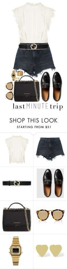 """Sans titre #785"" by janewithouttarzan ❤ liked on Polyvore featuring Topshop, Alexander Wang, Gucci, Givenchy, Karen Walker, Casio and Jennifer Meyer Jewelry"