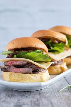 Roast Beef Sliders With Smoked Gouda and Caramelized Onions