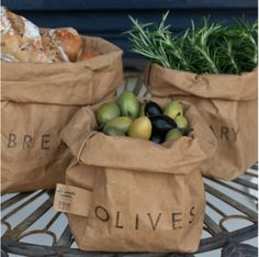 Cool washable paper bags bring a new spin to the classic bread basket.