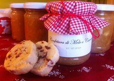 Marmellata di mele e cannella con bicotti per Natale - #handmade #jam for #Christmas