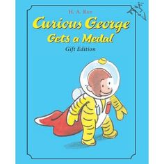 Curious George Gets a Medal Book with Bonus Medal from PBS Kids Shop