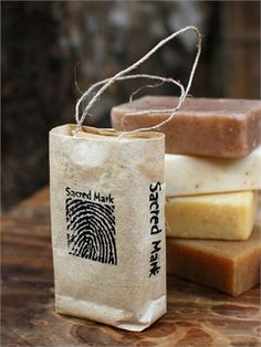 natural soap in a paper bag - chai masala
