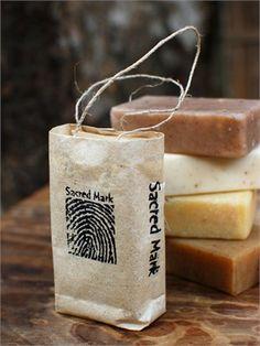 natural soap in a paper bag - chai masala