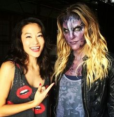 Arden Cho and Jill Wagner on the set of Teen Wolf! Aiden Teen Wolf, Teen Wolf Cast, Jill Wagner, Teen Wolf Memes, Mtv, Teen Wolf Werewolf, Victoria Moroles, Meninos Teen Wolf, Arden Cho