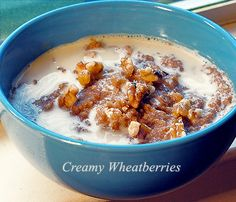 Wheat Berry Porridge, I don't know why this sounds so good right now, but it does.