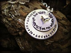 With My Whole Heart Hand Stamped Necklace with by SweetAspenJewels, $28.00